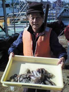沖一文字で1kgオーバーのタコも釣れています!