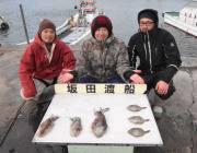 黒島の筏 エギングでアオリイカ0.6kg他コウイカなど