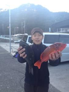 ハシゴ島にてグレ30UP5枚ゲット!