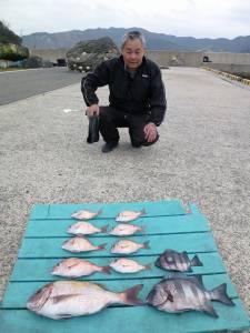 ●絶好の釣り日和でした●沖一文字かご釣り釣果