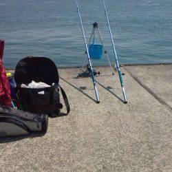 垂水漁港で投げ釣り、25cmのアブラメGET!