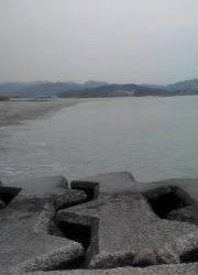 吹上浜 満潮時に投げ釣りでカレイ34cm