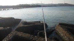 南塩谷 朝のルアー釣りでヒラスズキ43cm☆