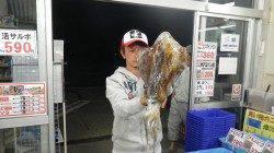 堺漁港 ヤエンでアオリイカ3バイ 合計4.68kg