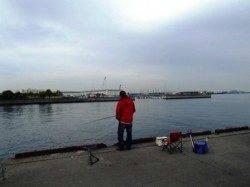 旧水上警察前でハネ!泉大津RT。朝