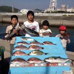 マリーナシティ海洋釣り堀 シマアジ・青物・マダイで満足釣果