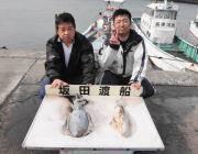 黒島の筏 ヤエンでアオリイカ1.2kg2ハイ