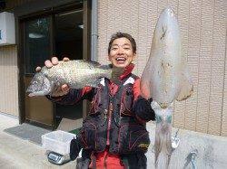湯浅でのエギング&フカセ釣り釣果