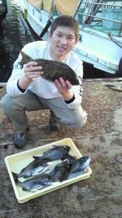 沖一文字紀州釣り釣果、40cm頭に合計9枚