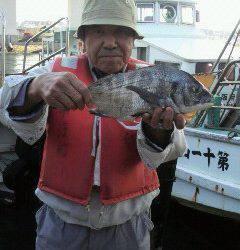 岸和田一文字 フカセのチヌ〜38cmの釣果