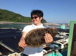 串本カセ釣りで、でかカワハギにヒラメ♪