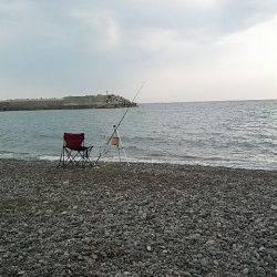 煙樹ヶ浜で泊り釣り、大型マゴチゲット他