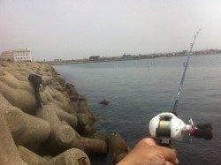 東二見人工島 テトラを探り釣り、ガシラ&アイナメ
