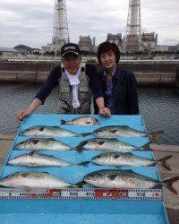 マリーナシティ海洋釣り堀 やったぜ! 青物大漁!