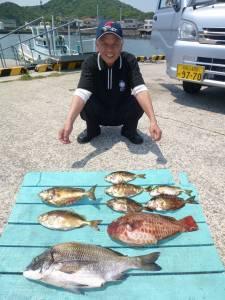 大漁です♪ケムリ島でのフカセ釣果
