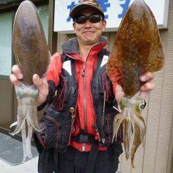 湯浅の磯 ウキ・エギング・ヤエンでのアオリイカ釣果