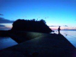 音海〜由良川向きにラン&ガンするも…小橋でのエギング