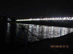 武庫川河口 探り釣りでウナギ狙いもテナガエビ&ブルーギル