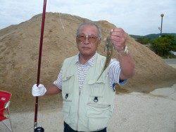 洲本 投げ釣りでキス〜24cm10匹、他コチ・ハゼなど