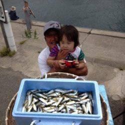マリーナシティ海釣り公園 サビキで豆アジ200尾!ファミリーにオススメ
