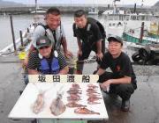 黒島の磯でのアオリイカ釣果