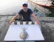 黒島の筏 ウキ釣りでアオリイカ1.3kg