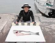 黒島の磯、ルアーで72cmのスズキをGET!