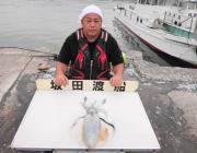 黒島の磯でヤエン釣り、1.1kgのアオリイカの釣果☆
