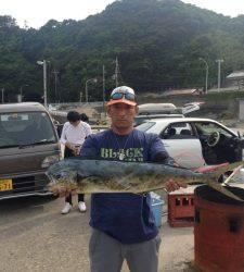 串本東部でショアジギ、最後に大型のシイラGET!