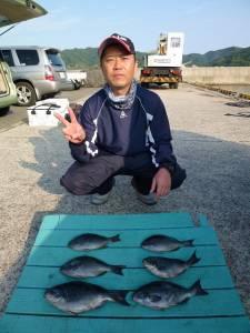 紀州釣りグレ釣果 〜30cm頭に6枚〜