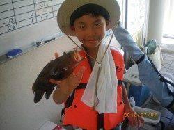 姫路市立遊漁センター 探り釣りでアコウ23㎝☆