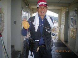 姫路市立遊漁センターで探り釣り セイゴにハネにチヌ♪