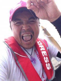津井で初めてのルアー(ワーム)での釣りに感動
