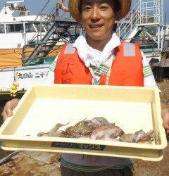岸和田、初めてのタコ釣りでタコ6杯GET♪