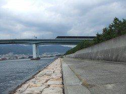南芦屋浜シーバスルアーGAME 表層で42cm