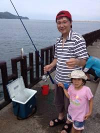 マリーナシティ海釣り公園、親子サビキの釣果☆