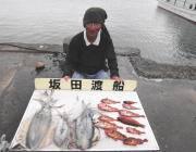 黒島の筏 良型アオリイカとガシラ♪