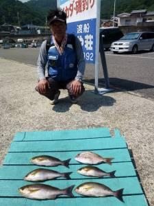 神谷沖一文字でのカゴ釣り イサギ楽しめます!