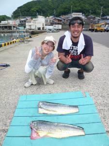 神谷沖一文字、大物シイラが続々釣れています