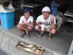 ハオリ磯、親子でフカセ釣り、グレとアイゴをGET!