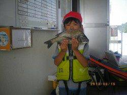 姫路遊漁センター チヌ・セイゴのお子様釣果
