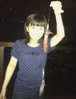 初めての釣りでケンサキゲット!