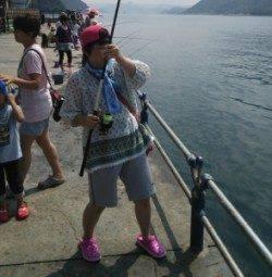 親海公園に豆アジを釣りに行ってきました♪