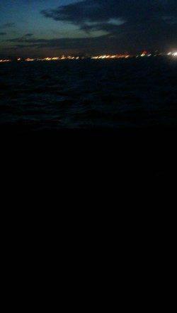 西宮でタチウオワインド、棚は着水後5~10秒ほど!