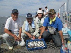 尼崎市魚つり公園 満員状態の中アジ・サッパ・サヨリメインの釣果