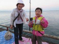 朝はアジ、その後はサッパ、サヨリは大型が中心です。尼崎市魚つり公園