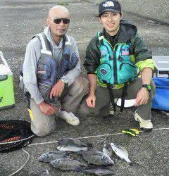 旧一文字赤灯、紀州釣りでのチヌ・グレの釣果です