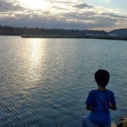 濱ノ瀬漁港 ジグヘッドでボトム狙いマゴチ