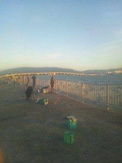 貝塚人工島で釣った生きアジで太刀魚の釣果