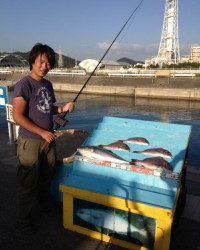 マリーナシティ海洋釣り堀BIG CATCHでメジロ・マダイ